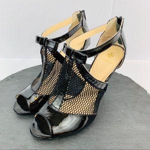 Isola black leather pumps women's size 7.5
